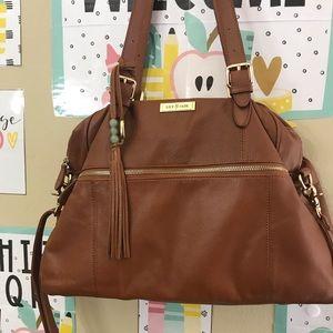 "Lily Jade ""Rosie"" 1.0 in camel diaper bag purse"